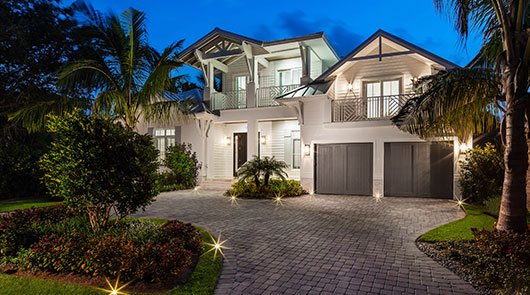 1140 7th Street South Villa Coast Naples, Florida Front Yard | Griffin Builders